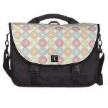 Pretty Colorful Pastel Textured Circles Pattern Bag For Laptop