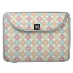 Pretty Colorful Pastel Textured Circles Pattern Sleeves For MacBook Pro