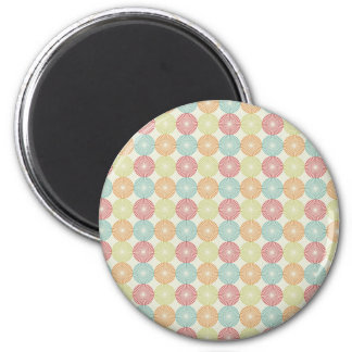 Pretty Colorful Pastel Textured Circles Pattern Magnet