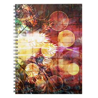 Pretty Colorful Peacock Feathers Design Notebook