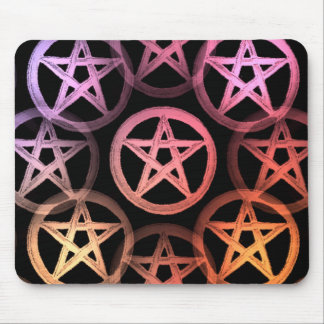 Pretty colorful pentacles mouse pad