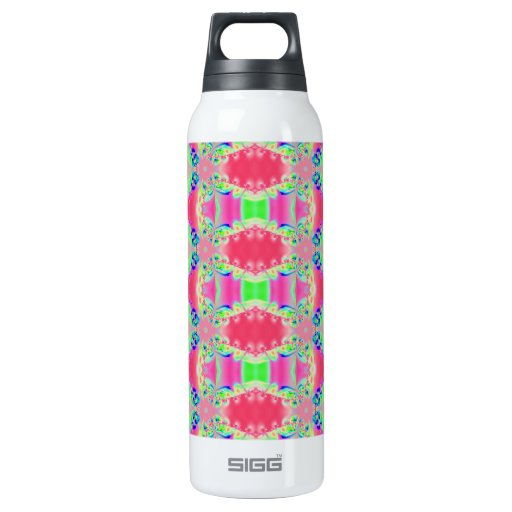 Pretty colorful pink pattern 16 oz insulated SIGG thermos ...