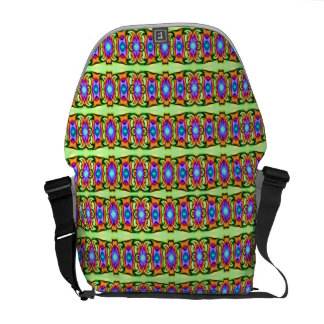 pretty colorful ribbons messenger bag
