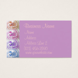 Pretty Colorful Roses Business Cards