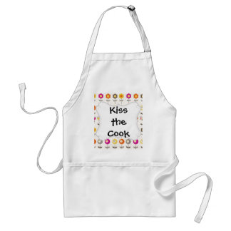 Pretty Colorful Spring Flowers Whimsical Pattern Adult Apron