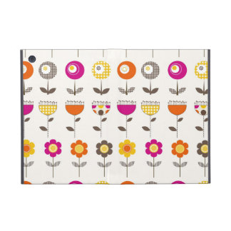Pretty Colorful Spring Flowers Whimsical Pattern iPad Mini Cases