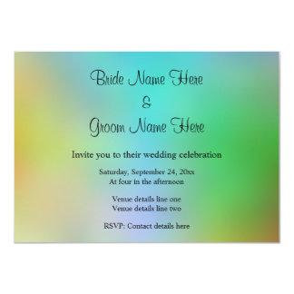 Pretty Colorful Wedding Design. 4.5x6.25 Paper Invitation Card