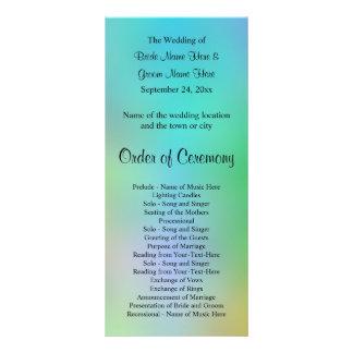 Pretty Colorful Wedding Program Design.