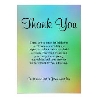 Pretty Colorful Wedding Thank You Design. 4.5x6.25 Paper Invitation Card