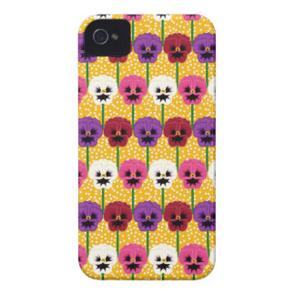 Pretty Colourful  Pansy  Flowers iPhone 4 Cases