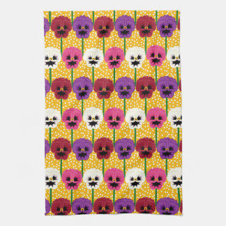 Pretty Colourful  Pansy  Flowers Kitchen Towel