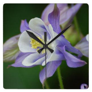 Pretty Columbine Flower Wallclock