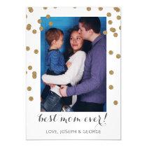 Pretty Confetti Mothers Day Photo Card