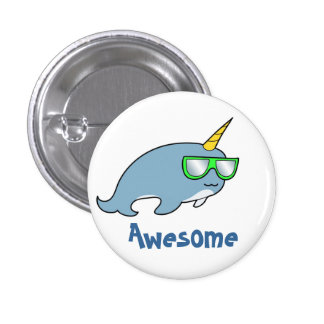 Pretty cool Narwhal in shades Pin