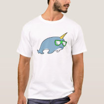 Pretty cool Narwhal in shades T-Shirt