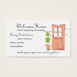 Pretty Coral Door Business Card