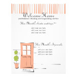 Pretty Coral Door Personalized Flyer