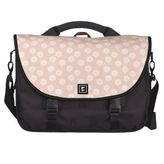 Pretty Coral Pink Color Floral Pattern. Commuter Bags