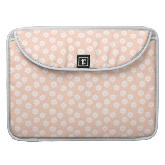 Pretty Coral Pink Color Floral Pattern. Sleeve For MacBooks