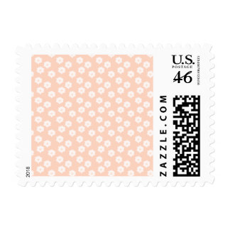 Pretty Coral Pink Color Floral Pattern Stamp