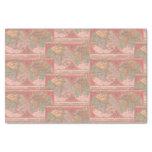 Pretty Coral Vintage Latin World Map Decoupage Tissue Paper