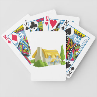 Pretty Country Cottage Bicycle Playing Cards