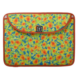 Pretty Country Marigolds, Blue MacBook Pro Sleeve