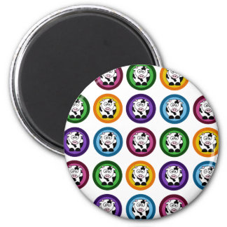 Pretty Cow Circles 2 Inch Round Magnet