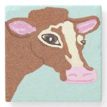 Pretty Cow Stone Coaster