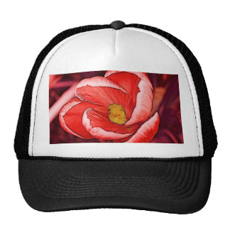 Pretty Crocus Flower Mesh Hats