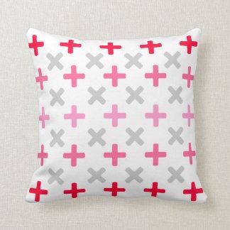 "Pretty Crosses Throw Pillow 16"" x 16"""