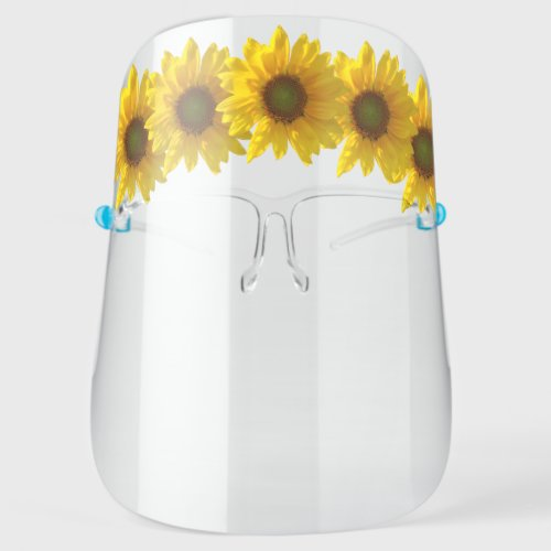 Pretty Crown of Sunflowers Floral Face Shield