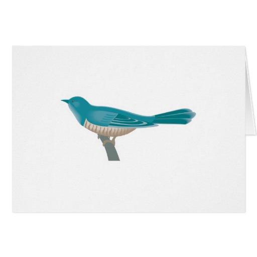 pretty cuckoo bird greeting card