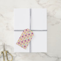 Pretty Cupcake Pattern Gift Tags