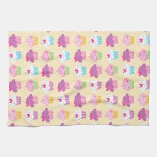Pretty Cupcake Pattern Kitchen Towel