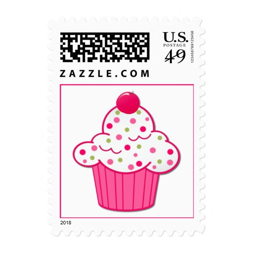 Pretty Cupcake Postage Stamp