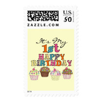 Pretty Cupcakes 1st Birthday Tshirts and Gifts Postage