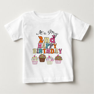 Pretty Cupcakes 2nd Birthday Tshirts and Gifts