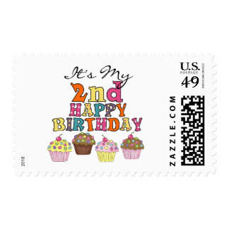 Pretty Cupcakes 2nd Birthday Tshirts and Gifts Postage