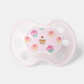 Pretty Cupcakes In Pink Pacifier