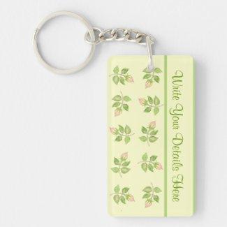 Pretty Custom Keychain, Nostalgic Rosebuds