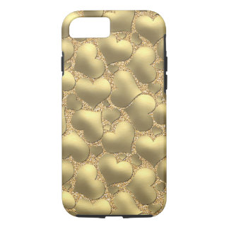 Pretty Cute Chic Modern Retro Girly Hearts Pattern iPhone 7 Case