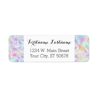 Pretty Cute Colorful Futuristic Swirls Pattern Label