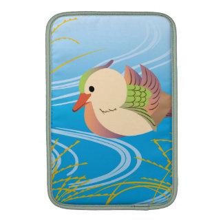 Pretty cute duck floating ON waterside MacBook Air Sleeves