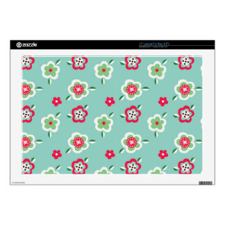 """pretty cute spring flowers pattern decals for 17"""" laptops"""