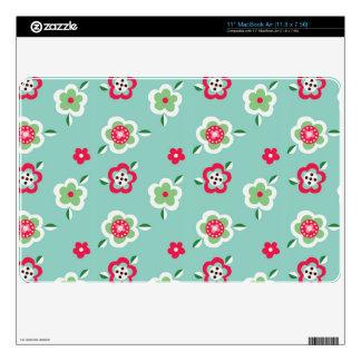 pretty cute spring flowers pattern MacBook skins