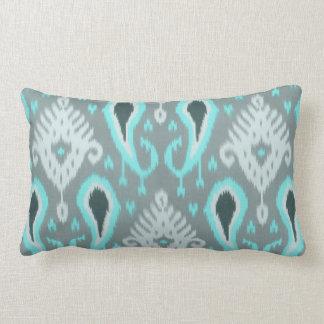 Pretty Cute Trendy Turquoise Ikat Tribal Pattern Pillow