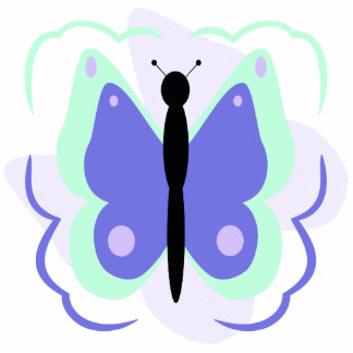 Pretty Cyan And Blue Butterfly Ornament