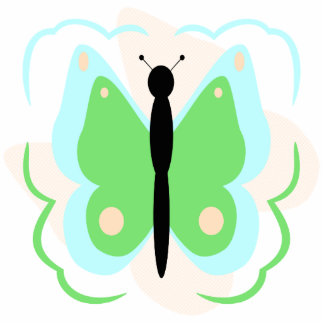 Pretty Cyan And Green Butterfly Ornament
