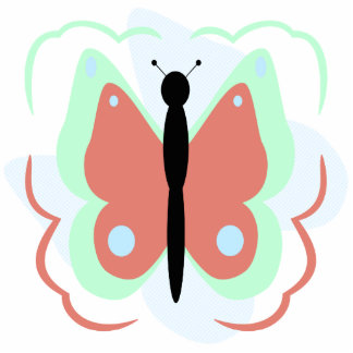 Pretty Cyan And Pink Butterfly Ornament